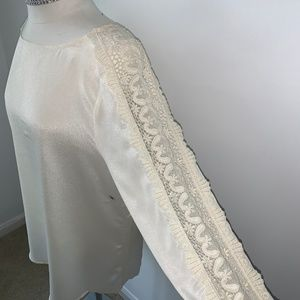 Silk Blouse  with Lace sleeves